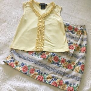 Vintage top and skirt